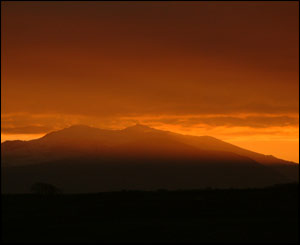 Sunrise over Snowdon, taken by Ken Morriss