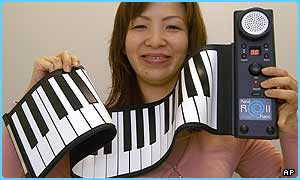 A Japanese company has made a folding piano