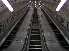 New escalator at Kings Cross