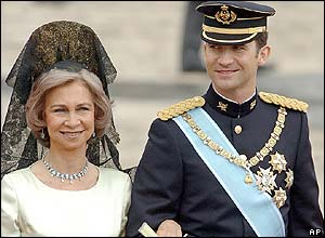 Queen Sofia and Crown Prince Felipe