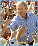 Bush meets his fans