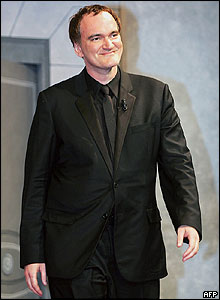 US film director and jury president Quentin Tarantino takes his place onstage for the closing ceremony