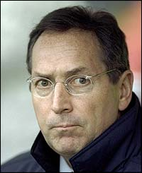 Gerard Houllier in his early days at Liverpool