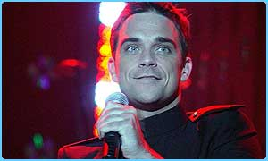Robbie Williams wasn't number one for long