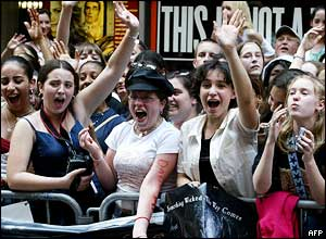 Fans in New York
