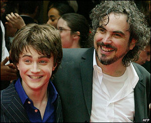 Alfonso Cuaron and Daniel Radcliffe