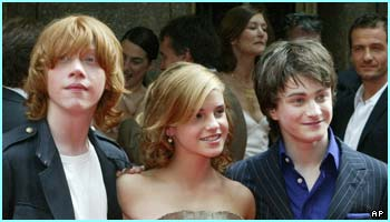 Rupert, Emma and Dan snuggle up for a group shot. They clearly made an impression in New York!