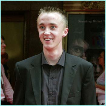 And Tom Felton, who plays that wicked boy Draco Malfoy, looks really sweet