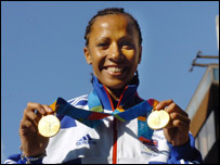 Kelly Holmes won two Olympic golds