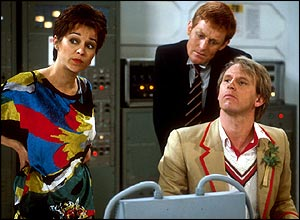 An air hostess, Tegan Jovanka (Janet Fielding), joined Peter Davison after thinking the Tardis was a real police box