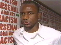 Arsenal midfielder Patrick Vieira is leading his club's drive to get racism out of the beautiful game.