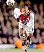 Thierry Henry sets off for Arsenal