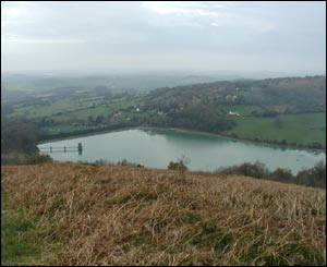 A picture of Wentwood Reservoir taken from the top of  Grey Hill near Caldicot, Monmouthshire (Craig Cullinane, Caldicot)