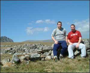 Richard and Steven Owen from Llandudno during a walk up Glyder Fawr and Fach