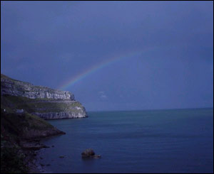 Great Orme at Llandudno with a rainbow, sent by Mark Nandhra