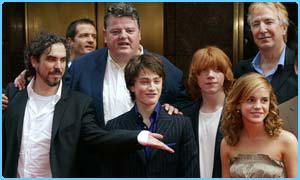Alfonso, left, with Dan, Rupert and Emma