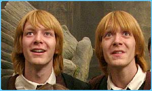 James and Oliver Phelps play Fred and George Weasley