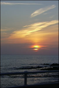 Sunset over Cardigan Bay, taken at the foot of Constitution Hill, Aberystwyth, by Philip Whitehouse