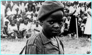 Child soldier in Rwanda