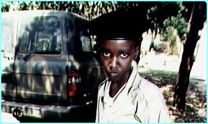 A child in the RPF army in Rwanda