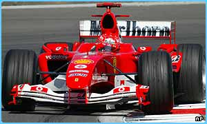 Michael Schumacher is on pole position