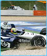 Ralf Schumacher was forced out of the race