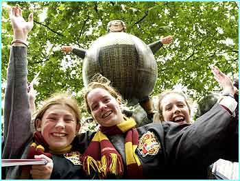 Potter fans have been waiting for hours to see the stars of the Prisoner of Azkaban at London's Leicester Square