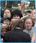 The fans go crazy for Dan Radcliffe