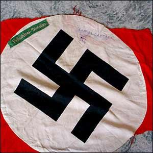 A Nazi flag which Bob took from an enemy tank in Africa
