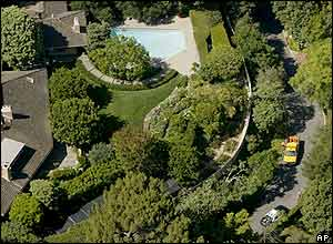Aerial view of Reagan home