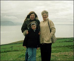 Amanda Collins, who now lives in Surrey, with her mother and Holly on a visit back to The Orme in north Wales