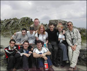 Technical theatre students from Yale College, Wrexham, on the summit of Snowdon (Paul Hernon)