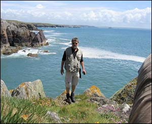 Rainer Schinzel from Germany at Porthclais, as taken by his wife Juliane Walz