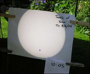 Tim Lewis took this picture of the Transit of Venus in Maesycwmmer
