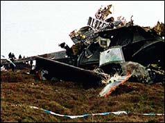 Wreckage of the Chinook