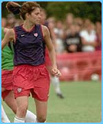 Mia Hamm is the most famous US football player