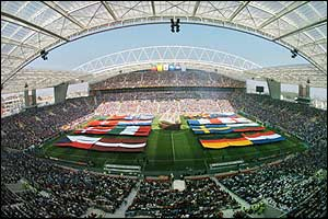 Estadio do Dragao stadium during the opening ceremony for Euro 2004
