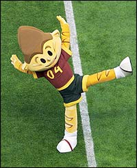 Kinas, the Euro 2004 mascot dances