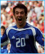 Greece score their opening goal