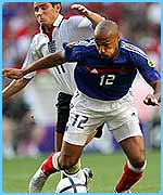 Thierry Henry won a late penalty