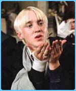 Tom Felton plays Draco Malfoy