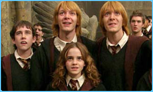 The Phelps twins play the Weasleys