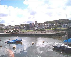 The picturesque harbour of Aberaeron, from Pam Venner in Pembrey, Carmarthenshire
