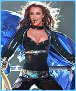 Britney on at an earlier concert on the tour