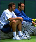 Pete Sampras and Paul Annacone
