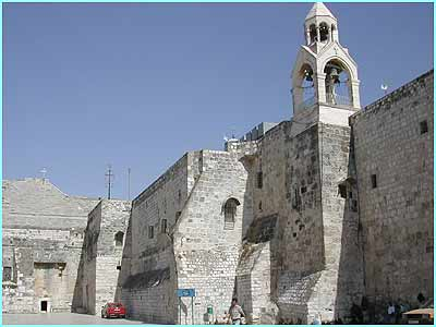 The Holy Land is important to three world religions: Islam, Christianity and Judaism.  This is the Church of the Nativity in Bethlehem built on the site where many believe Jesus was born. There was an