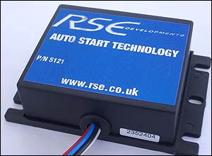 Photo of the RSE hands-free ignition box