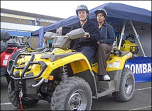 Photo of two-seater quad bike