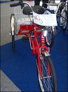 Photo of the Mission powered tricycle
