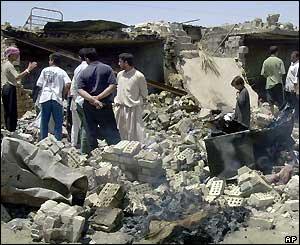 Damage in Fallujah after US missile strike